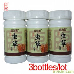 Promotion Anti fatigue products 3bottle Cordyceps Capsule for renal deficiency ringing ears and insomnia
